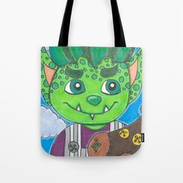 Young Goblin with stuffed dog Tote Bag