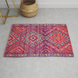 N118 - Pink Colored Oriental Traditional Bohemian Moroccan Artwork. Rug