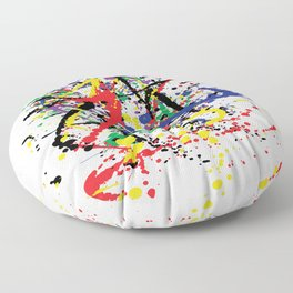 Pollock Remembered by Kathy Morton Stanion Floor Pillow