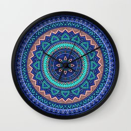 Hippie mandala 38 Wall Clock