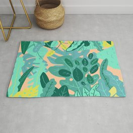 Flora Nature Forest Tropical Rug