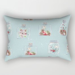Christmas Pattern Mint Rectangular Pillow