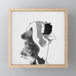 The courage of deeply love. Framed Mini Art Print