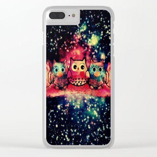 owl-256 Clear iPhone Case