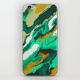 Copper and Teal iPhone Skin