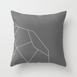 Golden Lines Throw Pillow