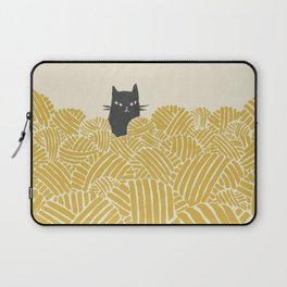 Cat and Yarn Laptop Sleeve