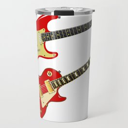 Red Elecric Guitars Travel Mug