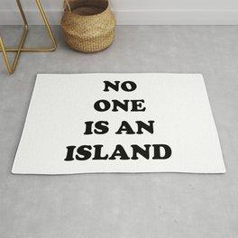 No One Is An Island Rug