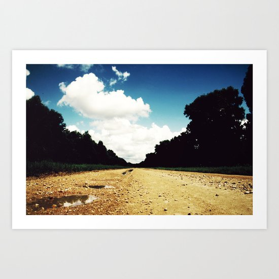 Open Road, Louisiana Art Print