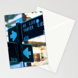 Traffic sign at Santiago, Chile Stationery Cards