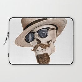 Hipster Skull Laptop Sleeve