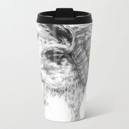 Wooly Llama Metal Travel Mug