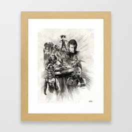 Homage to Mad Max Framed Art Print