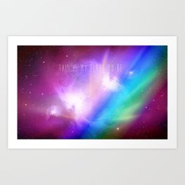 The space to be. Art Print