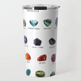 Crystals and their names Travel Mug