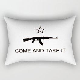 Come and Take It AK47 Black Rectangular Pillow