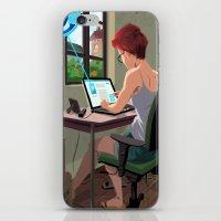 laptop iPhone & iPod Skins featuring Laptop by Josue Noguera
