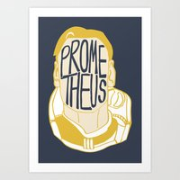 prometheus Art Prints featuring Prometheus by SleptAwoke