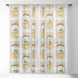 That's the TEA, sis tarot card Sheer Curtain