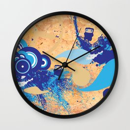 Minjas In Space Wall Clock