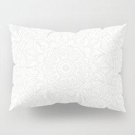 Cream on White Mandala Circle of Life Pillow Sham