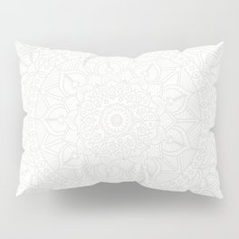 Cream on White Mandala Circle of Life Pillow Sham
