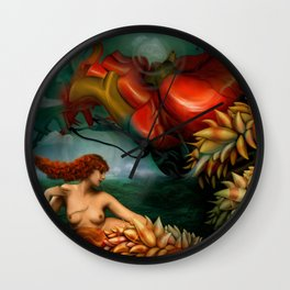 My heart like a sea monster Wall Clock