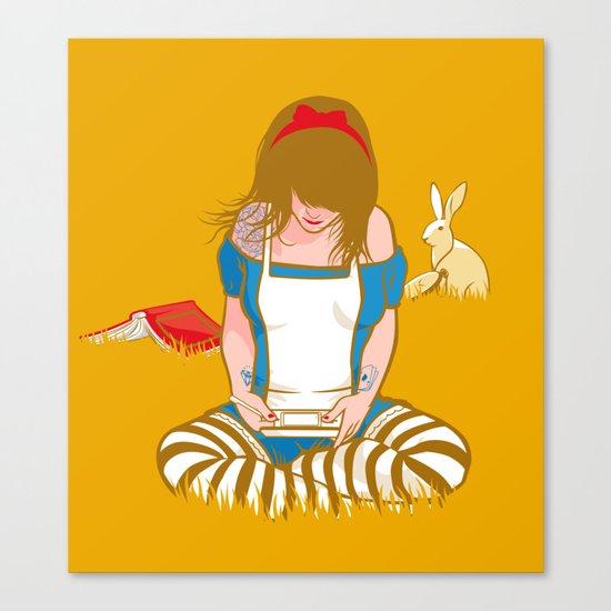 Alice in Mario Land Canvas Print