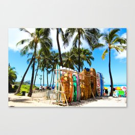 Hawaii Surf Life Canvas Print