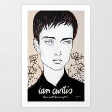 Ian Curtis Art Print