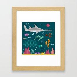 Sea animals Framed Art Print