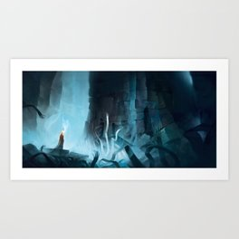 Pilgrim of Ruin Art Print