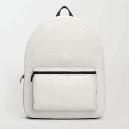 Creamy Off White Solid Color Pairs with Farrow and Ball All White 2005 - Accent to Arsenic 214 Backpack