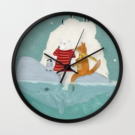 a winters journey Wall Clock