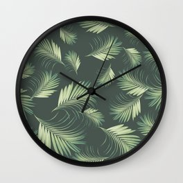 Tropical Palms Pattern #1 #tropical #decor #art #society6 Wall Clock