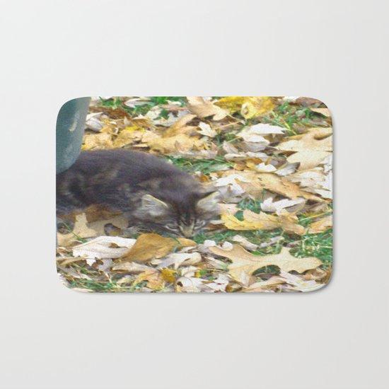 Autumn Kitten Bath Mat