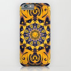 Flame Hearts in Blue and Gold iPhone 6s Slim Case