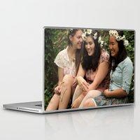fairies Laptop & iPad Skins featuring Forest Fairies by Frances Dierken
