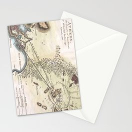 Vintage Map of Athens (1784)  Stationery Cards