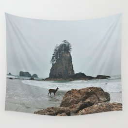 Deer on the Beach Wall Tapestry