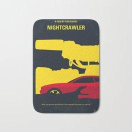 No794 My Nightcrawler minimal movie poster Bath Mat