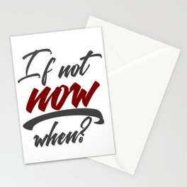 Stop Procrastination No Inertia Act Now Stationery Cards