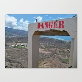 Danger ... Volcano! Canvas Print