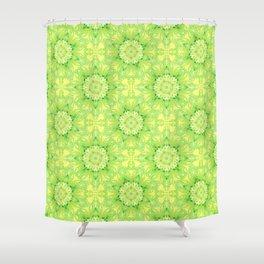 Curly Mandala in fresh lemon&green Shower Curtain