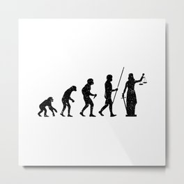 Lady Justice Evolution Lawyer Judge Law Metal Print