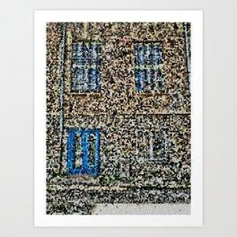 crystalized facade Art Print