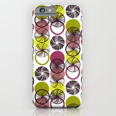 Black Border Abstract Circles iPhone 6s Slim Case