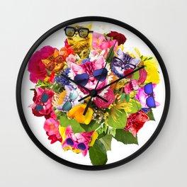 Cat Bouquet Wall Clock