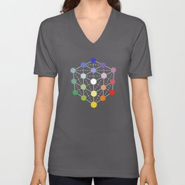 Colour cube (white point) from the Manual of the science of colour by W. Benson, 1871, Remake Unisex V-Neck